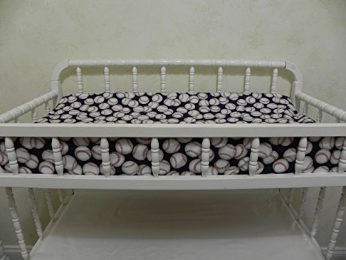 Custom Changing Pad Cover - Baseball Navy by Just Baby Designs Inc