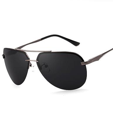 8e925bce9e4 Mens rimless sunglasses Polarized frog glasses Bright driving sunglasses-A