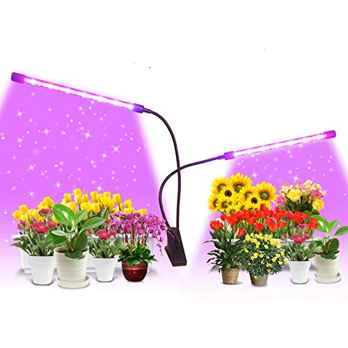 Grow Light Growing Lamp 9 Dimmable Level Full Spectrum Grow Plant Light for Indoor Plant with Auto On/Off 3/9/12H Timer, Adjustable Gooseneck 3 Switch Modes