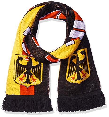 RUFFNECK National Soccer Team Germany Jacquard Knit Scarf, One Size, Black/Red/Yellow/White ()