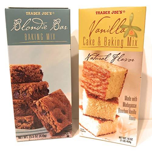 Trader Joe's Baking Mix Set, Includes 1 Blondie Bar Mix and 1 Vanilla Cake Mix