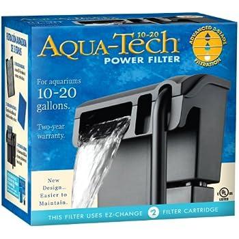 Amazon Com Aqua Tech Power Aquarium Filter 10 To 20