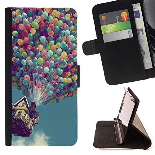 God Garden - FOR Apple Iphone 6 - Pixar - Glitter Teal Purple Sparkling Watercolor Personalized Design Custom Style PU Leather Case Wallet Fli