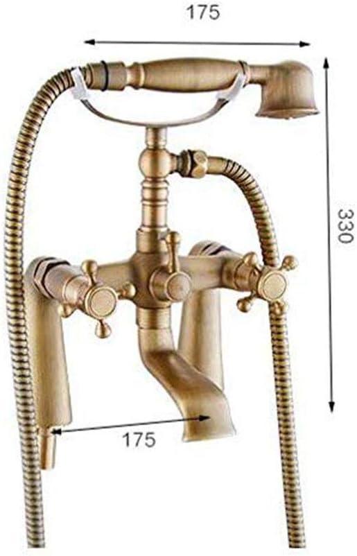 raddoppiano le maniglie piattaforma montata Vasca Rubinetto per il bagno Bronzo antico vasca da bagno rubinetti con doccetta