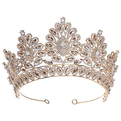 S SNUOY Rhinestone Crystal Queen Crown Bridal Wedding Tiaras and Crowns for Women Prom Pageant Princess Tiara