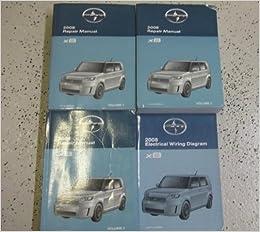 2008 toyota scion xb xb x b service shop repair manual set oem factory  books 08 (3 volume set, and the electrical wiring diagram manual