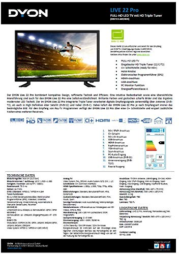 DYON Live 22 Pro 54,6 cm (21,5 Zoll) Fernseher (Full-HD
