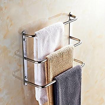 DAZYGZ Set de accesorios de baño Toallero De Acero Inoxidable 304 Moderno 3 Capas Toallero De 60 Cm Escalera De Toallas Barras De Toallas Productos De Baño: Amazon.es: Bricolaje y herramientas
