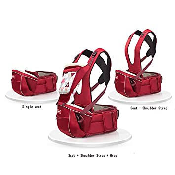322eb2ec46 ... SUNVENO Baby Hipseat Carrier 2in1 Comfort Ergonomic Waist Stool Baby  Carrier Hip Seat (Gray) ...