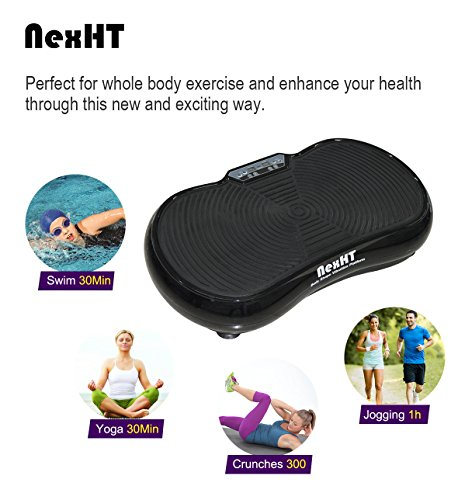 NexHT Fitness Vibration Platform,Whole Full Body Shape Exercise Machine,Vibration Plate ,Fit Massage Workout Trainer with Two Bands &Remote,Max User Weight 330lbs.