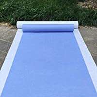 Aisle Runners Wedding Accessories Light-Blue Aisle Runner Carpet Rugs for Step and Repeat Display, Ceremony Parties and Events Indoor or Outdoor Decoration 59 Inch Wide x 66 feet Long