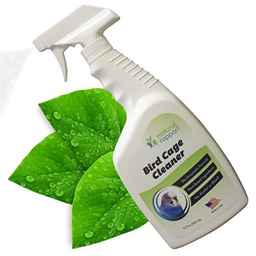 Natural Rapport Bird Cage Cleaner Spray-Convenient Poop Remover for Parrot, Parakeet, Macaw & Cockatoo Cages (Bird Mat)