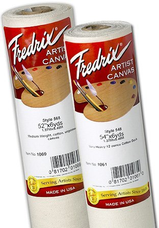 Fredrix Unprimed Canvas 12 Oz 84In X 6Yd Roll (Unprimed 12 Canvas Roll)