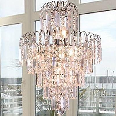 Lightinthebox European-Style Luxury 6 Lights Chandelier In Crown Shape, Crystal Home Ceiling Light Fixture, Pendant Light Chandeliers Lighting for Dining Room, Bedroom, Living Room
