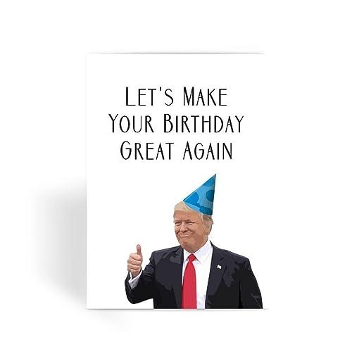 Amazon Com Funny Birthday Card Trump Birthday Card Boyfriend