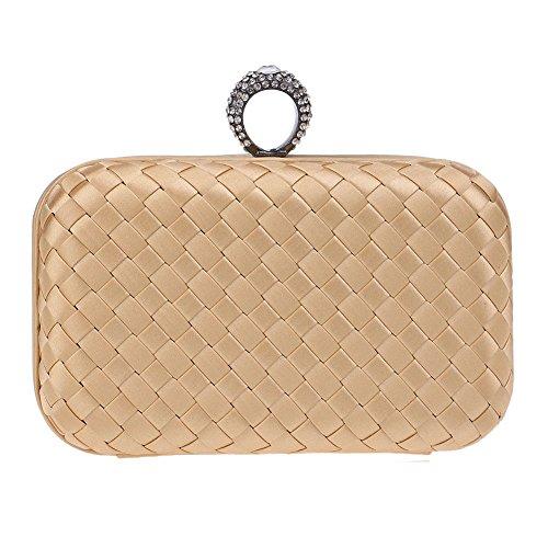 Bride 3 Knit Dinner Pouch QEQE Temperament Handbags Cheongsam Handbags Wild 5 Women's Color Lady's wzARgT