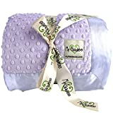 My Blankee Minky Dot Twin Blanket with Flat Satin Border, Lavender, 59'' X 85''