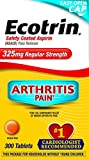 Ecotrin Regular Strength 325 Mg Aspirin for Arthritis, Safety Coated Aspirin-Pain Reliever, 300 Tablets
