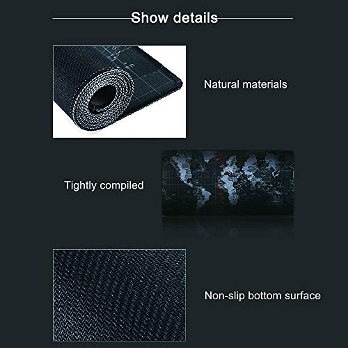 gdfh RGB Gaming Mouse Pad Soft, USB Interface, 8 Lighting Modes, 4mm Ultra Thick, Oversized Glowing Led Extended Mouse Pad, Anti-Slip Rubber Base Waterproof Keyboard Mouse Mat