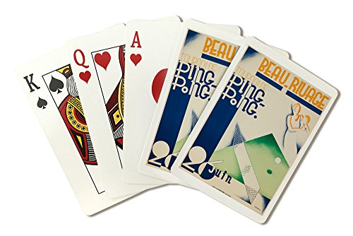 - Switzerland - Beau - Rivage - Ping - Pong - (artist: Boost c. 1932) - Vintage Advertisement (Playing Card Deck - 52 Card Poker Size with Jokers)