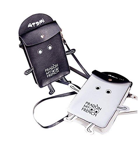 Purse Bag Robot Bag Cute Shoulder Wallet White Phone Mini Crossbody Cell TqHwCa