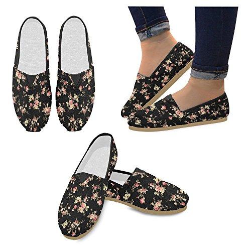 Mocassini Da Donna Di Interestprint Classico Su Tela Casual Slip On Moda Scarpe Sneakers Mary Jane Flat Floral