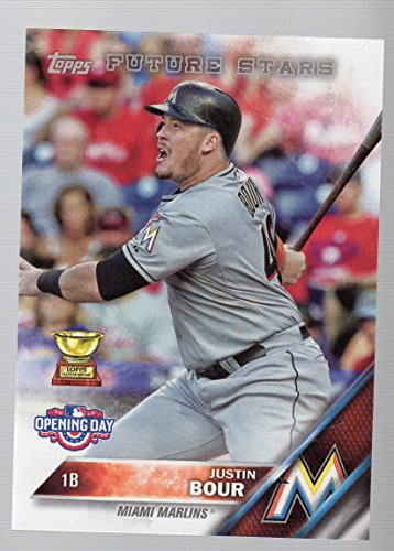 2016 Topps Opening Day #OD181 Justin Bour Miami Marlins