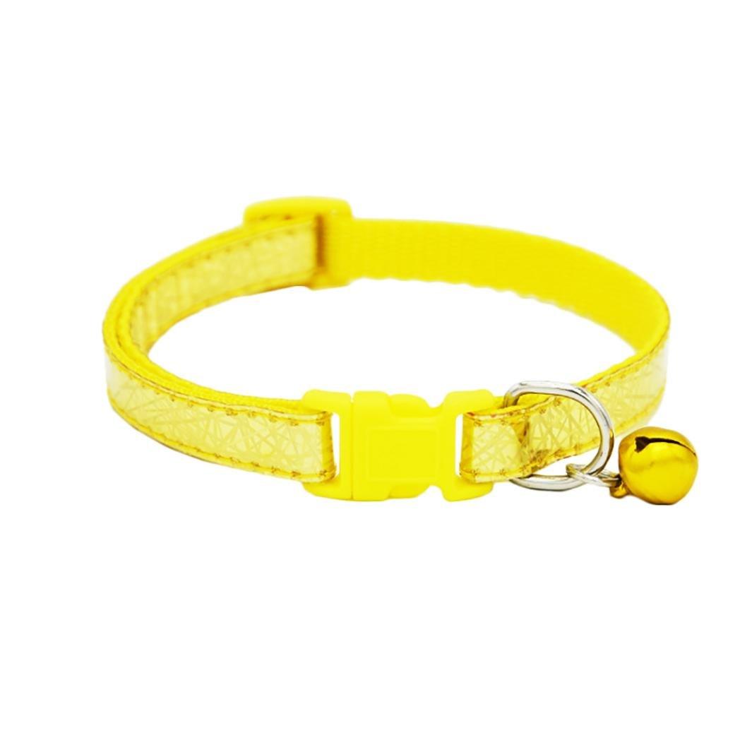 Collar ajustable para mascotas con campana láser para perros pequeños, cachorros, gatos y gatos: Amazon.es: Productos para mascotas