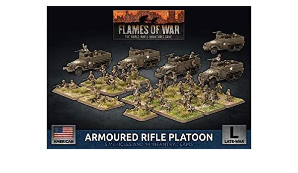 UBX75* FLAMES OF WAR ARMOURED RIFLE PLATOON