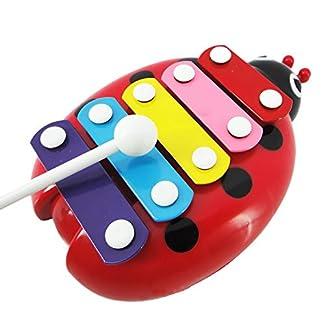 Vococal® Jouets de Bébé Kid Enfant Musical Coccinelle Coloré Style Xylophone Instrument Jouets Éducatifs
