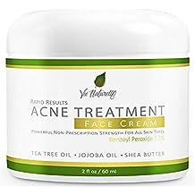 Acne Treatment Cream - Benzoyl Peroxide 7.5% - Topical Anti Acne Medication - Witch Hazel, Tea Tree Leaf, Jojoba Oil, Almond Oil, Shea Butter