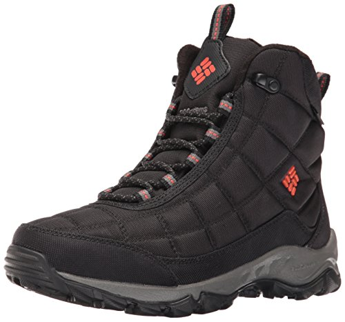 Bonfire Boot - Columbia Men's Firecamp Boot Snow Boot, Black/Bonfire, 11 D US