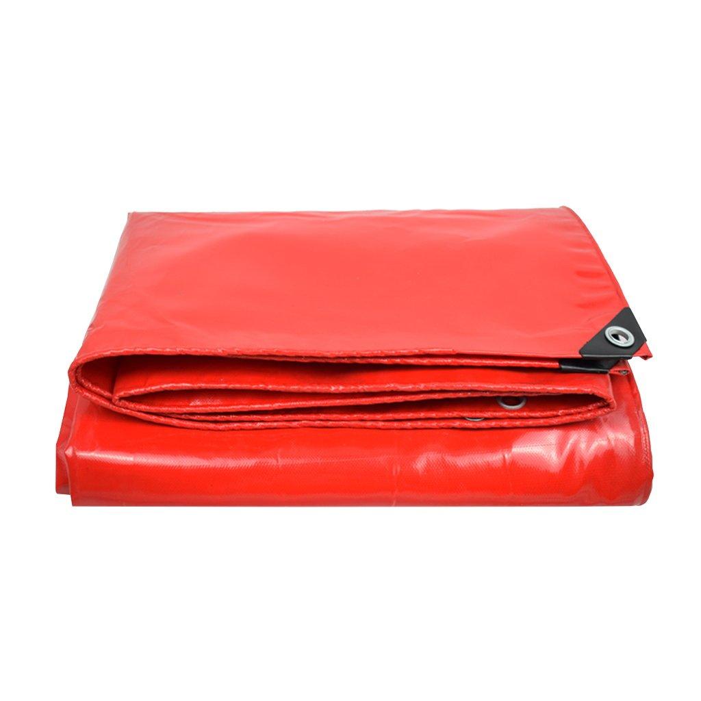LQq-abdeckplanen Rote Plane-wasserdichte Hochleistungs-Plane-Blatt für kampierendes Fischen, das im Garten arbeitet, Stärke 0.4mm, 450g   m² - 100% wasserdicht und UVgeschützt, 9 Größe vorhanden für C