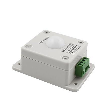 Hrph DC12-24V 8A PIR Infrarrojos Sensor de movimiento Switch Inducción automática del cuerpo humano