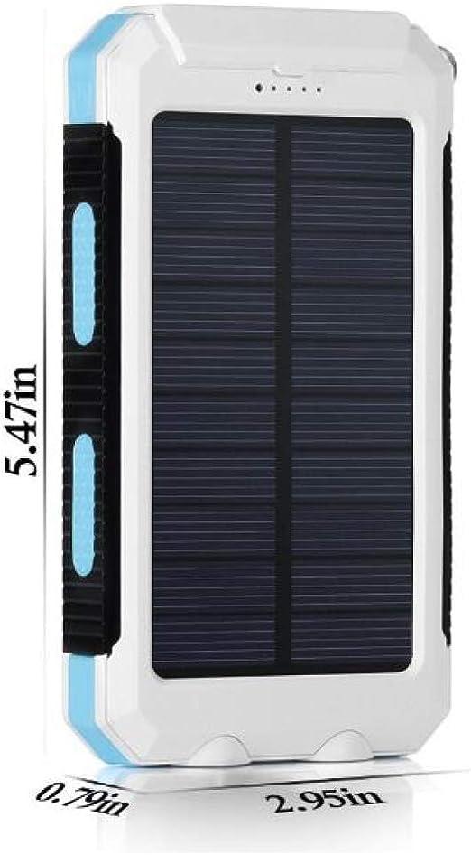 LIUQIAN Cargador Solar Portátil con, Batería Externa Puertos de ...