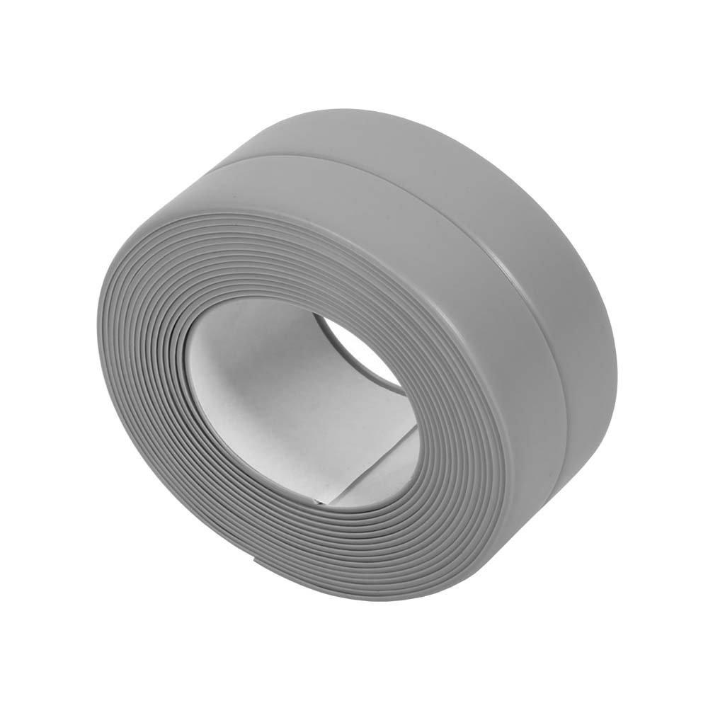KaLaiXing Tub and Wall Caulk Strip. Kitchen Caulk Tape Bathroom Wall Sealing Tape Waterproof Self-Adhesive Decorative Trim-Grey-JD04