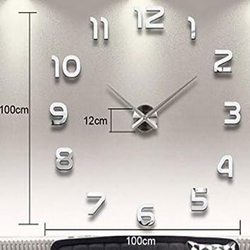 CNMKLM grandes relojes de pared decorativos diseño moderno salón Vintage Reloj de pared Decoracion rústica moda #2: Amazon.es: Hogar