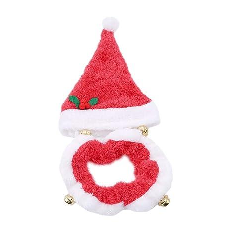 Toporchid Mascotas Papá Noel, Perros Disfraz Navidad Gorro y ...