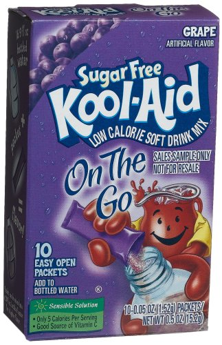 UPC 043000023037, Kool-Aid Sugar Free On-the-Go Grape, 0.5-Ounce, 10-Count Packets (Pack of 6)