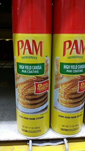 Pam High Yield Canola Pan Spray 17 Oz (12 Pack) by PAM