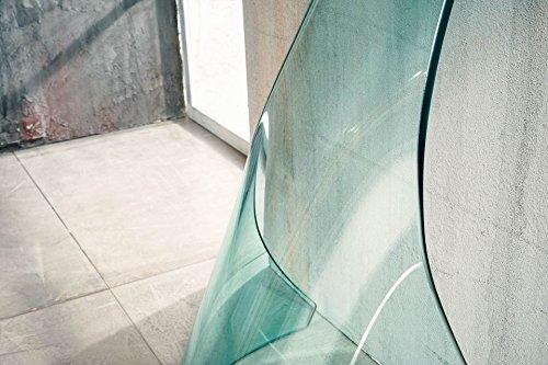 Console da Salotto Ponte in Vetro curvato IMAGO FACTORY NINFEA