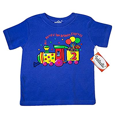 Inktastic Little Boys' 2nd Birthday Express Toddler T-Shirt 4T Royal Blue