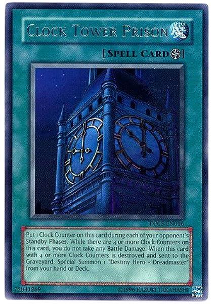 Amazon Com Yu Gi Oh Clock Tower Prison Dp05 En016 Duelist Pack 5 Aster Phoenix 1st Edition Rare Toys Games