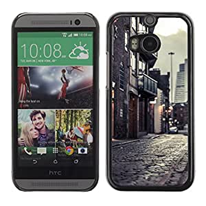 Hot Style Cell Phone PC Hard Case Cover // M00103215 fences photos snow // HTC One M8