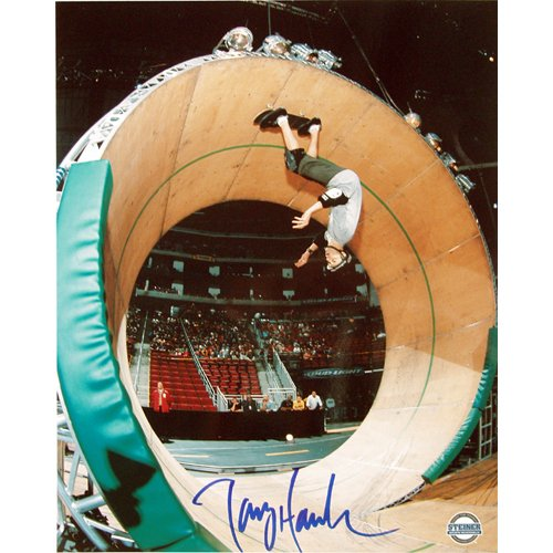 (Steiner Sports Tony Hawk The Loop Autographed 8-by-10-Inch Photograph)