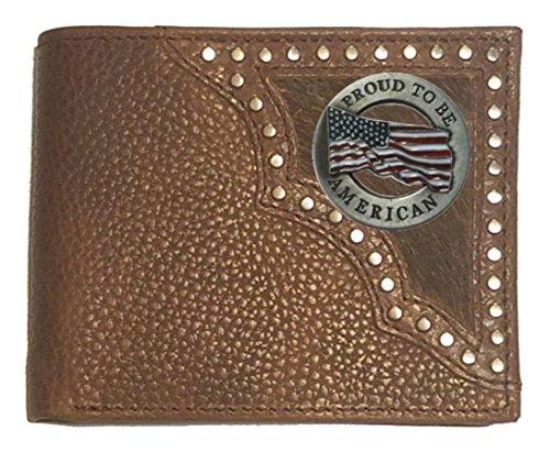 on fold Proud Hide American Custom Brown Wallet Bi Hair 7YUOtwq