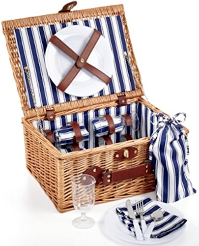 Martha Stewart Collection Outdoor Entertaining 26-Piece Wicker Picnic Basket Set