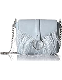 Courtney O Ring Feather Cross-Body Bag