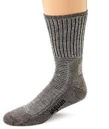 Wigwam Men\'s Hiking/Outdoor Pro Crew Socks, Grey Heather, Large
