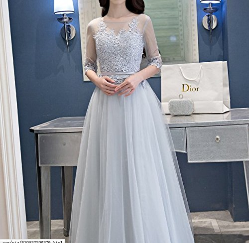 Vickyben Damen A-Linie langes Schnuerung Prinzessin Tuell Abendkleid Ballkleid brautjungfer Cocktail Party kleid champán